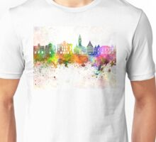 Lille skyline in watercolor background Unisex T-Shirt