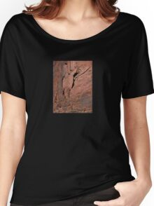 Red Rock Abstract Women's Relaxed Fit T-Shirt