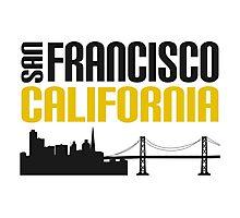 San Francisco California Golden City On A Hill Photographic Print