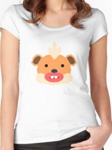 Pokemon, Spaced Growlithe Women's Fitted Scoop T-Shirt