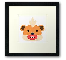 Pokemon, Spaced Growlithe Framed Print
