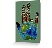 Earthy fingers. Greeting Card