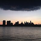 Camden, NJ looking to Philly across Delaware River by Kimberly Scott