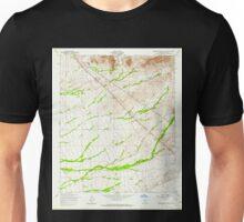 USGS TOPO Map Arizona AZ Superstition Mts SW 313614 1956 24000 Unisex T-Shirt