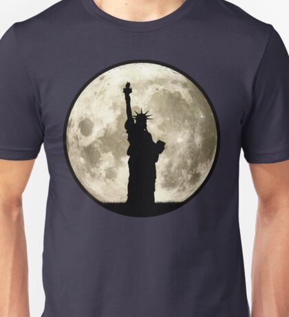 Full Moon Liberty Silhouette Unisex T-Shirt