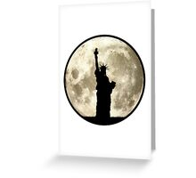 Full Moon Liberty Silhouette Greeting Card