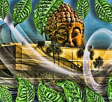 Buddha Above the Strip Mall by GolemAura