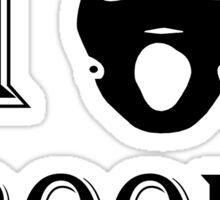 I love Brooke - Black Sticker