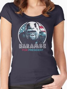 Harambe for President Women's Fitted Scoop T-Shirt