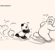 Cold Paws Attack by Panda And Polar Bear