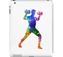 Man exercising weight training iPad Case/Skin