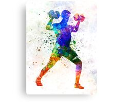 Man exercising weight training Canvas Print