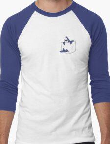Blue shark pocket Men's Baseball ¾ T-Shirt