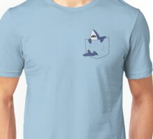Blue shark pocket Unisex T-Shirt