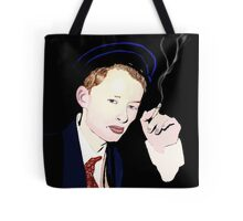 Thom Yorke smoking a cigarette Tote Bag