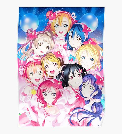 Love live - μ's! Poster