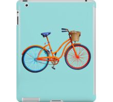 Bicycle on blue ground iPad Case/Skin