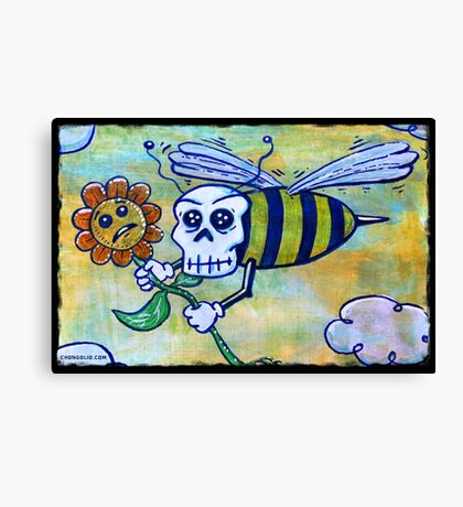 Bumble Skull Canvas Print
