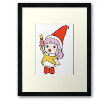 Little cute elf Framed Print