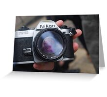 nikon Greeting Card