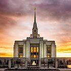 Ogden Utah Temple Sunset by LaRae55