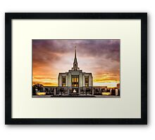 Ogden Utah Temple Sunset Framed Print