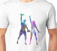 woman exercising with man coach Unisex T-Shirt