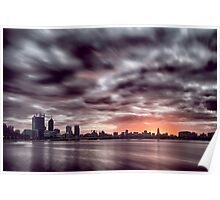 Sunrise over the Swan River Poster