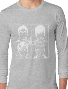 Blur (White) Long Sleeve T-Shirt