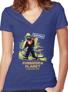 Forbidden Planet Women's Fitted V-Neck T-Shirt