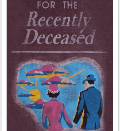 Handbook for the recently deceased Sticker
