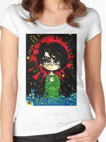 Big World -Kewpi Doll- Women's Fitted Scoop T-Shirt
