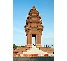 Independence Monument in Phnom Penh Photographic Print