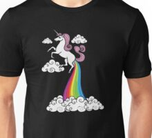 Funny Unicorn Rainbow Fart Cloud Unisex T-Shirt