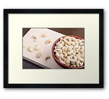 Delicious and healthy raw cashew nuts Framed Print