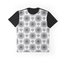 Black and white crystal flowers Graphic T-Shirt