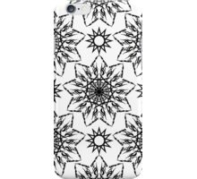 Black and white crystal flowers iPhone Case/Skin