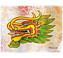 Thailand Dragon Mixed Media Poster