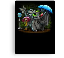 My Neighbor Toothless Canvas Print