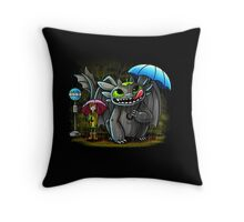 My Neighbor Toothless Throw Pillow
