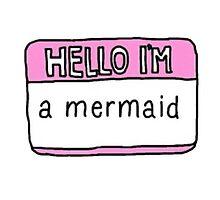 Hello I'm a Mermaid Sticker by sweatsurprise