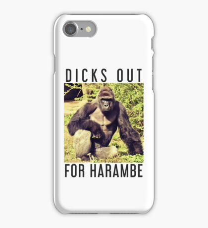 Dicks Out For Harambe iPhone Case/Skin