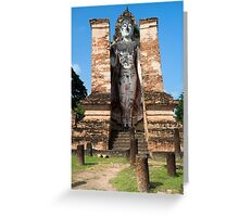 Buddha Monument in Sukhothai Greeting Card