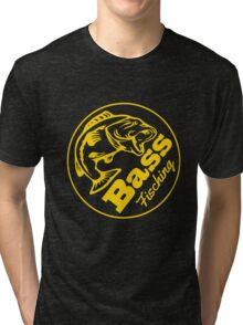 Bass Fishing Tri-blend T-Shirt