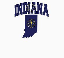 Indiana Flag in Indiana Map Unisex T-Shirt