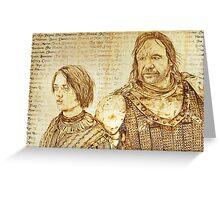 The Wolf & The Hound - Arya's List Greeting Card
