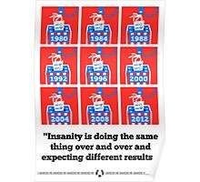Voting Is Insanity Poster