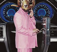 Pink Suited Ram by JennCaen