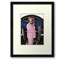 Pink Suited Ram Framed Print