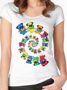 Grateful Pugs Dancing Pugs Women's Fitted Scoop T-Shirt